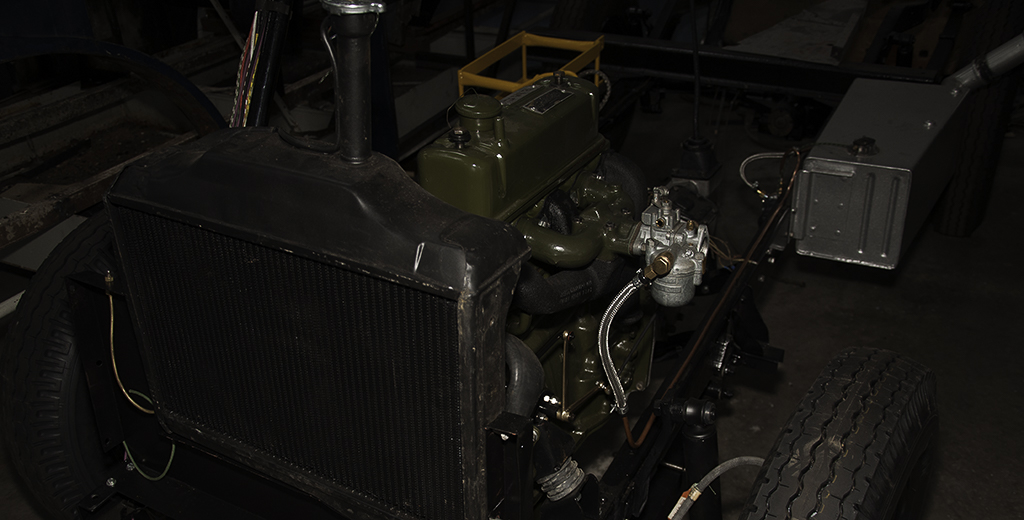 Morris JB Milk float chassis and engine.
